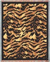 70x53 TIGER Jungle Skin Print Tapestry Throw Blanket  - $60.00