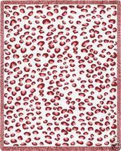 70x53 PINK LEOPARD Print Tween Jacquard Throw Blanket - $60.00
