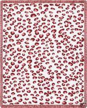 70x53 Pink Leopard Print Tween Jacquard Throw Blanket - $60.00