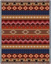 70x54 Native Southwest Geometric Pattern Tapestry Afghan Throw Blanket - $60.00