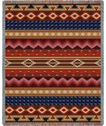 70x54 Native Southwest Geometric Pattern Tapestry Afghan Throw Blanket - $60.00
