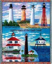70x53 Gulf Coast LIGHTHOUSE Jacquard Throw Blanket - $60.00