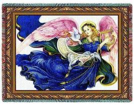 70x54 ANGEL Religious Tapestry Afghan Throw Blanket  - $60.00