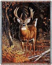 70x53 DEER Buck Wildlife Tapestry Throw Blanket Afghan - $60.00