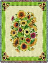 70x54 SUNFLOWERS Floral Tapestry Throw Blanket  - $60.00