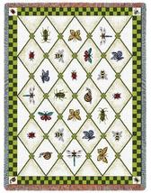 70x54 LADYBUG Dragonfly Butterfly Afghan Throw Blanket - $60.00