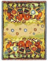 70x53 KOKOPELLI Dancer Southwest JACQUARD Throw Blanket - $60.00