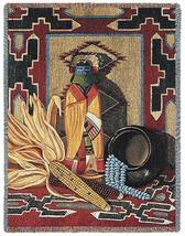 70x54  KACHINA Pottery Corn Southwest Tapestry Afghan Throw Blanket - $60.00