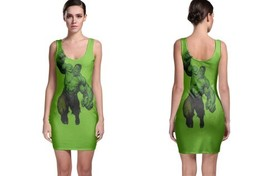 hulk full green image Bodycon Dress - $21.99+