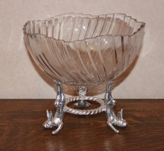 Arthur Court Crystal Bowl with Rabbits Stand – 1996 - €34,87 EUR