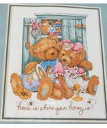 SUNSET No-Count Cross Stitch Kit 'Where Your Honey Is' Teddy Bear  #1394... - $43.49
