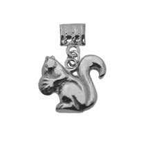 Squirrel with Acorn Sterling silver 925 Europeand Bead Charm Jewelry New - $22.32