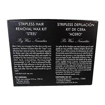 Barbero Microwavable Hair Removal Stripless Wax Kit Steel 8.45 Ounces by Wax Nec image 4