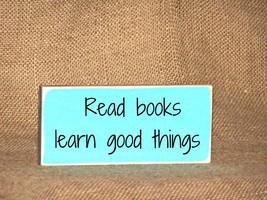 Home Decor Rustic Sign, Read Books Plaque, School Teacher Library Quote,... - €10,88 EUR