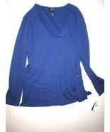 NWT New Natori Lounge Top Womens $98 Blue LS Large L Soft Office Jersey ... - $63.70