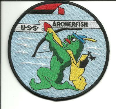 Primary image for US Navy USS Archerfish SS-311 WWII Balao-Class Submarine Patch
