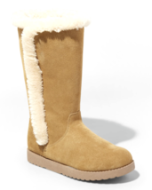 Universal Thread Women's Daniela Natural Real Suede Faux Fur Tall Winter Boots