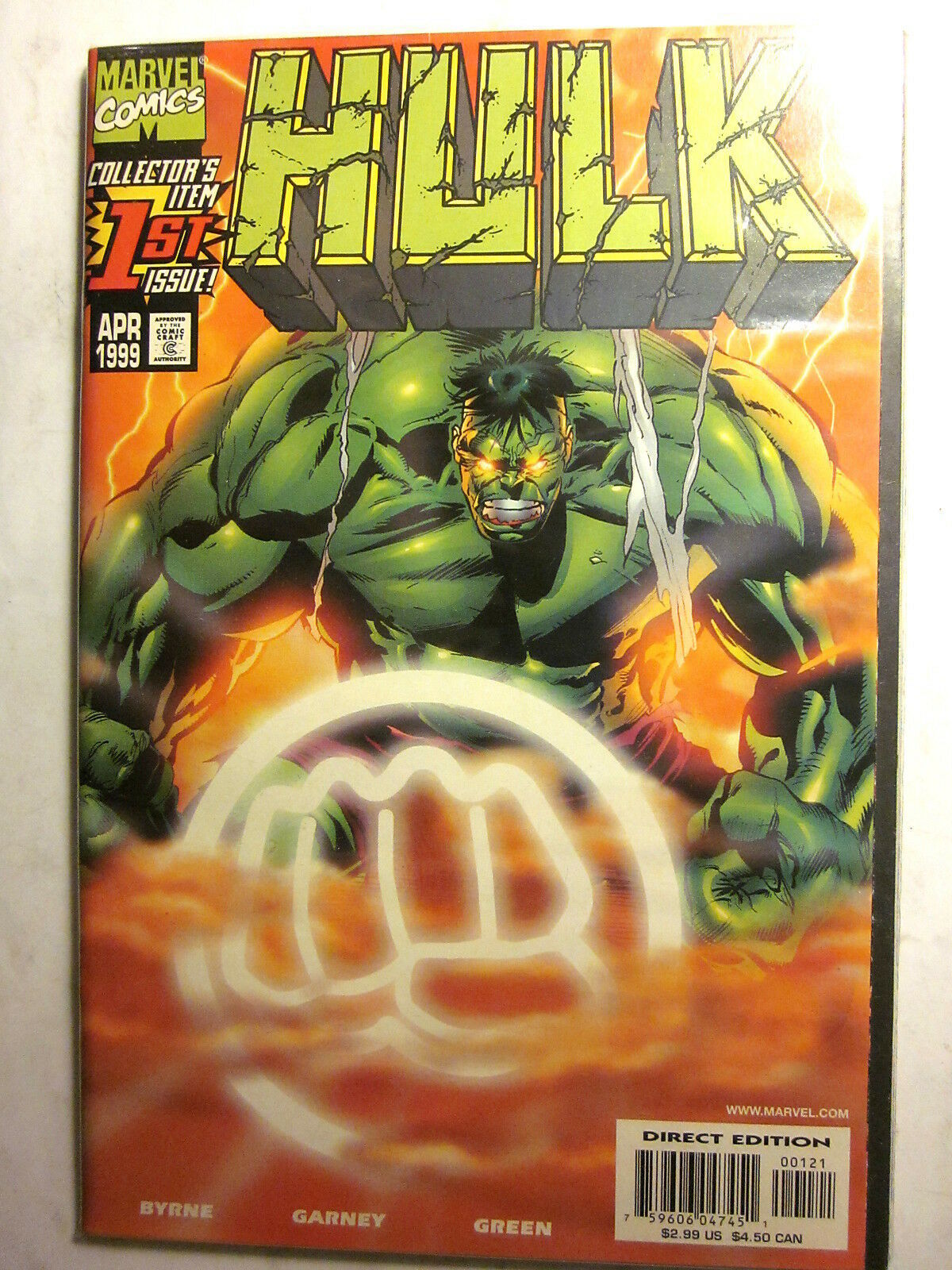 HULK #1B SUNBURST Edition + HULK #1 Regular (Apr 1999/Both NM, 9.4 in grade)