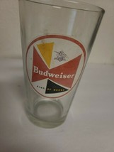 Budweiser King Of Beers Retro Vintage Style Pint Clear Glass 16oz. Rare EUC - $20.00