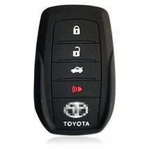 DOBREV 4 Button Black Silicone Cover Holder Protector Case for Toyota MIRAI Fort - $7.83