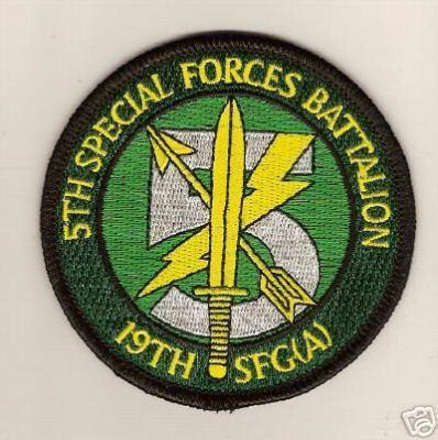 Primary image for US Army ODA 5th Battalion 19th SFG Special Forces Patch