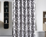 Urtain stylish black and white gray squares pattern high quality thickening shower thumb155 crop