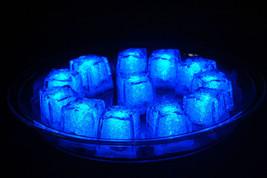 Set of 12 Litecubes Jewel Color Tinted Sapphire Blue Light up LED Ice Cubes - $29.95