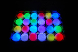 Set of 24 Litecubes Brand RAINBOW Light up LED Golf Balls (Drink Novelty)