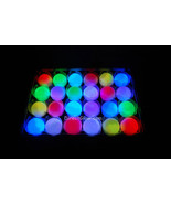 Set of 24 Litecubes Brand RAINBOW Light up LED Golf Balls (Drink Novelty) - $1.103,49 MXN