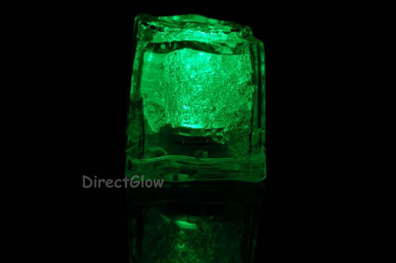 Set of 96 Green Litecubes Brand 3 Mode Light up LED Ice Cubes