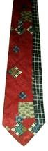 "NICE! - Structure Men Beautiful Silk Neck Tie Red Blue Gray White Brown Geo 57"" - $9.89"