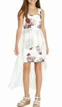 Pailettenherz Größe 10 Mädchen Blumen Folie Scuba Schürze Kleid Elfenbei... - $34.64