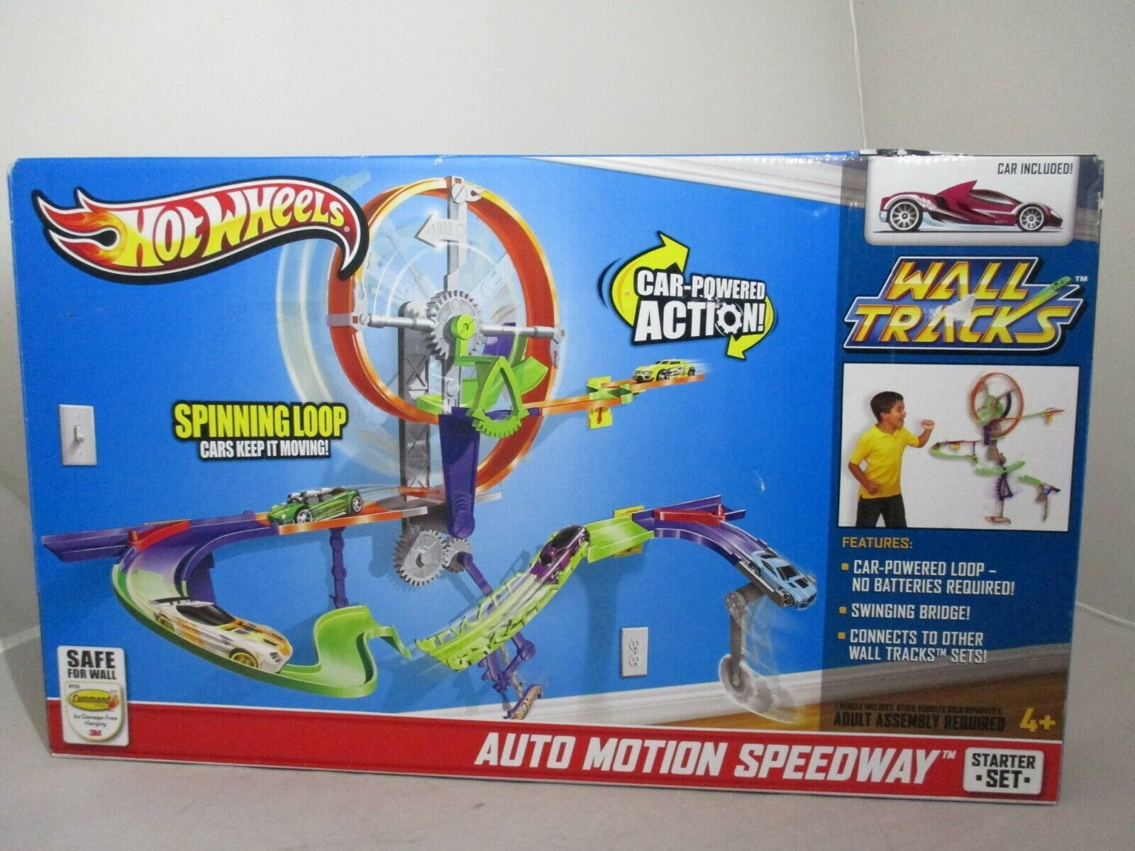 Primary image for Hot Wheels Wall Tracks Starter Set Auto Motion Speedway Mattel 2012 NEW!!!