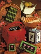 Plastic Canvas Tissue Cover Desk Set Lunch Box Eyeglass Case Basket Patt... - $11.99
