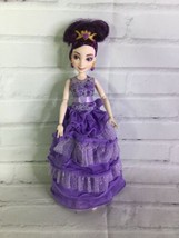 Disney Descendants Mal Coronation Doll Purple Dress Isle of the Lost Has... - $28.70