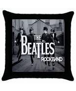 "New* HOT THE BEATLES ROCKBAND Black Throw Pillow Case 18"" x 18"" - $18.99"