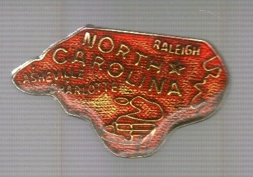 Primary image for Small North Carolina Pinback!