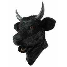 Forum Novelties Unisex-Adults Moving Mouth Mask-Bull, Black, Standard - $110.63