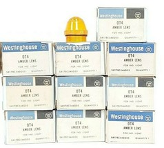 LOT OF 10 NIB WESTINGHOUSE OT4 AMBER LENSES