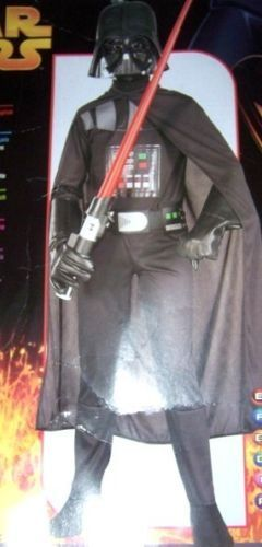 Star Wars Darth Vader Boys Costume SZ Med 8-10 NEW