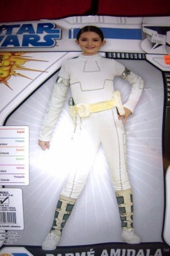 Star Wars Padme Amidala Girls Costume SZ SM 4-6 Clone Wars NEW