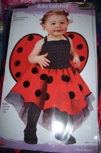 Infant Baby Ladybug Costume SZ Up to 24 Months NEW