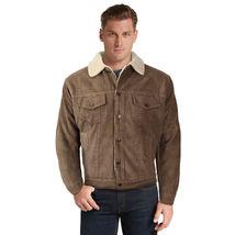 Men's Premium Classic Button Up Fur Lined Corduroy Sherpa Trucker Jacket image 12