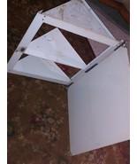 Vintage bathroom mirror corner cabinet triangle shelves 70s camper - $28.06