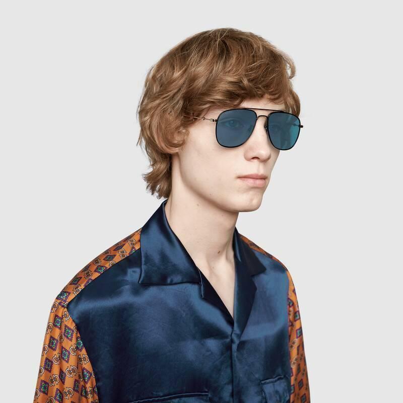 NEW Gucci GG0514S Men's Square Frame 57mm Authentic Sunglasses