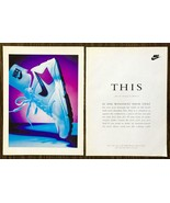 1993 Nike Air Analog Women's Running Shoes 2-Page PRINT AD - $10.89