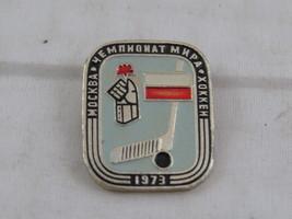 Vintage Hockey Pin - 1973 World Hockey Championships Moscow - Metal Pin image 2
