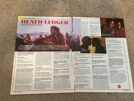 Heath Ledger teen magazine pinup clipping let's ride a horse popstar