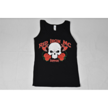 Womens Gildan Red Iron Motorcycle Club Support (Arizona) Tank Top Med Bl... - $14.69