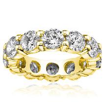 1.38 Carat All Around Diamond Eternity Wedding Engagement Band 14K Yello... - $782.13